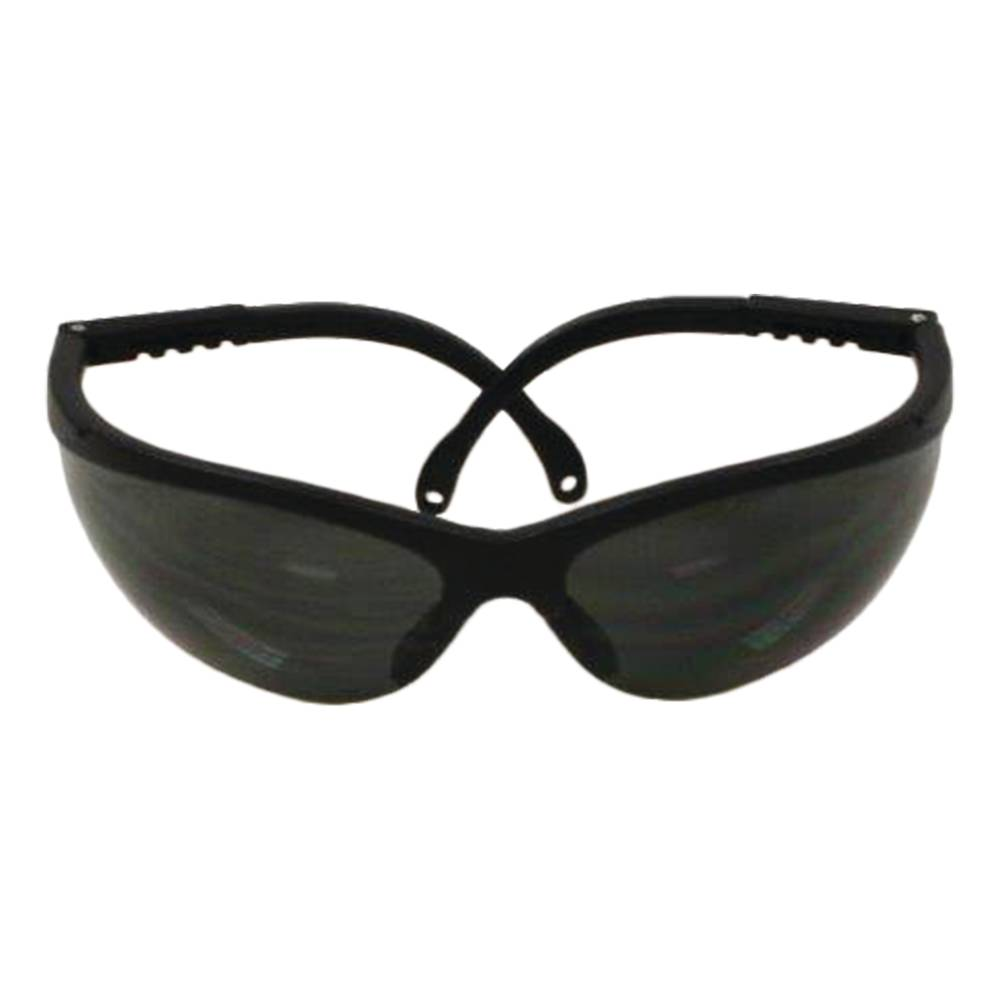 Stens 751-630 Safety Glasses Filters 99.9/% of harmful UV rays anti-scratch gray lens Elite style Black Frame